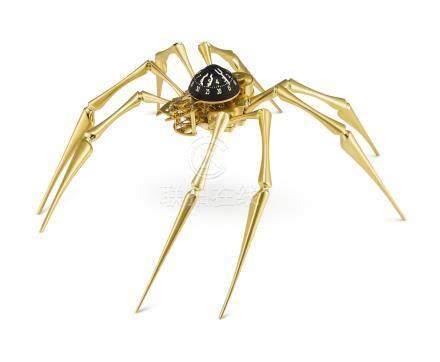 「ARACHNOPHOBIA GOLD」限量版黃銅材質鍍金蜘蛛形時鐘備8日動力儲存,機芯編號31817,年份約2015。