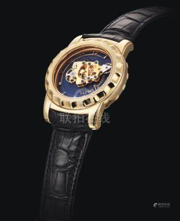 016-88 型號「FREAK」黃金卡羅素陀飛輪腕錶備60分鐘旋轉機芯,雙擒縱裝置及7日動力儲存,編號282,年份約2003。