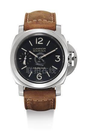 PAM00542型號「LUMINOR MARINA LUCERENE」限量版精鋼腕錶備雕刻錶背蓋,編號 P010/100,年份約2014。