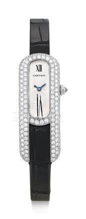 2635型號「LIBRE」白金鑲鑽石腕錶,錶殼編號915403CD,年份約2011。