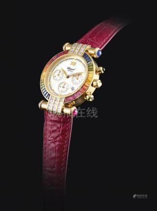 37/3183-2型號「IMPERIALE」黃金鑲鑽石及寶石計時腕錶備日期顯示,錶殼編號367317及1215,年份約2000。