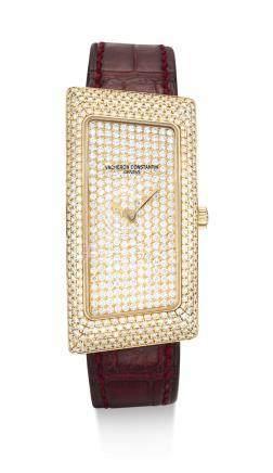 25510型號「1972 CAMBREE」精美粉紅金鑲鑽石腕錶,錶殼編號823708,年份約2006。