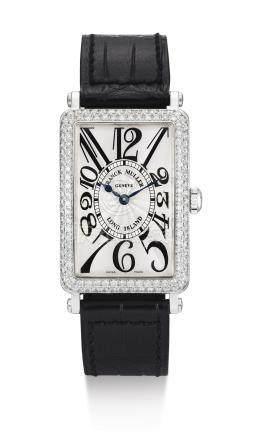 950 QZ D 型號「LONG ISLAND」白金及鑲鑽石腕錶,編號562,年份約2002。