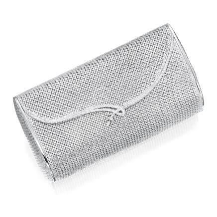 K白金 配 鑽石 晚裝手袋