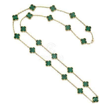 孔雀石項鏈, 'Alhambra', 梵克雅寶(Van Cleef & Arpels)