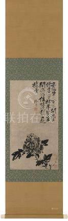 徐渭(明)  牡丹 立轴 水墨纸本