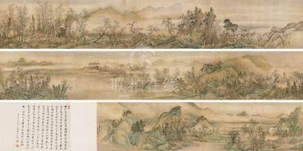 王翚(清)  1690年作 早春图 手卷 设色绢本