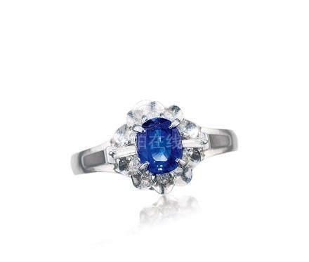 天然蓝宝石钻戒