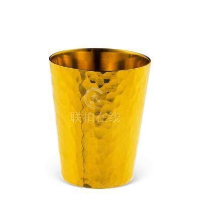 18k槌目酒杯