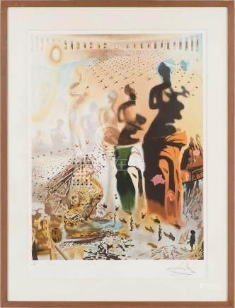 萨尔瓦多·达利(1904~1989)  维纳斯 镜框 铜版纸本