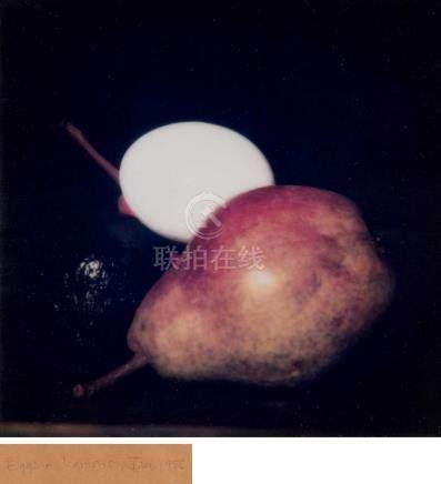 唐纳德·苏尔坦(1951~)  1986年作 Still Life Eggs+Lemons 镜框 胶版复印