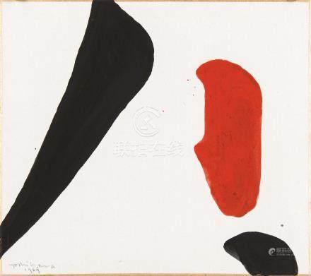 吉原治良(1905~1972)  1969年作 无题 水性颜料