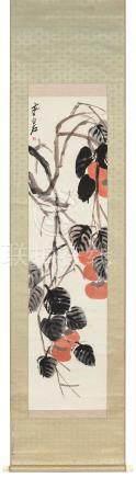 齐白石(1864~1957)  事事如意 立轴 设色纸本