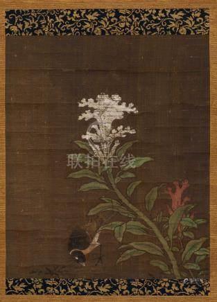 佚名 花鸟 立轴 设色绢本