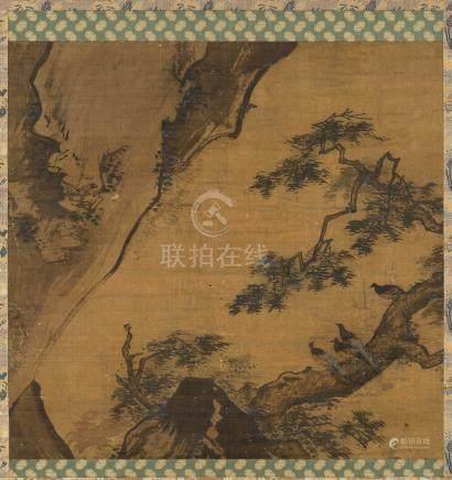 佚名(明) 枝鸟图 立轴 设色绢本