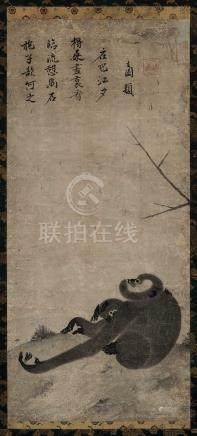 佚名(元) 猿猴图 立轴 水墨纸本