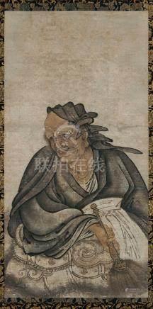 佚名 维摩诘画像 立轴 设色纸本