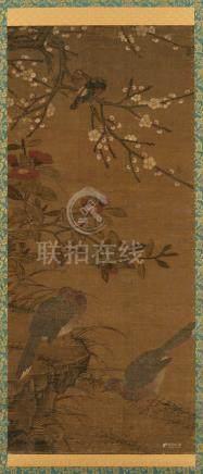 吕纪(明) 花鸟图 立轴 设色绢本