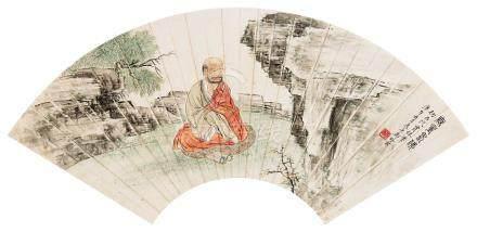 郑慕康(1901~1982) 1930年作 无量寿佛 镜心 设色纸本