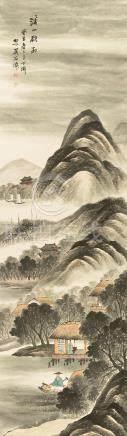 吳石仙  山水       設色紙本 立軸