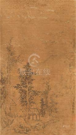 永瑢 山水       設色絹本 立軸