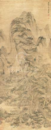 王蒙  山水       水墨紙本 立軸