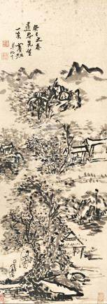 黃賓虹  山水       水墨紙本 立軸