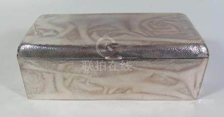 A Large Chinese Silver Cigarette Case, 19.5 x 9.5 x 7.5cm