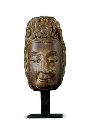 北周石雕菩萨头像