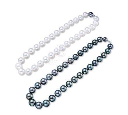 一組兩條珍珠項鍊