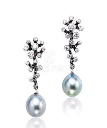 Jewellery Theatre設計 珍珠配鑽石耳環