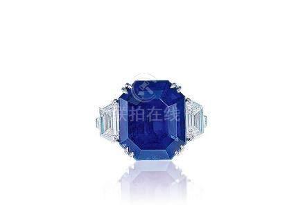 20.42克拉緬甸「皇家藍」藍寶石配鑽石戒指,未經加熱