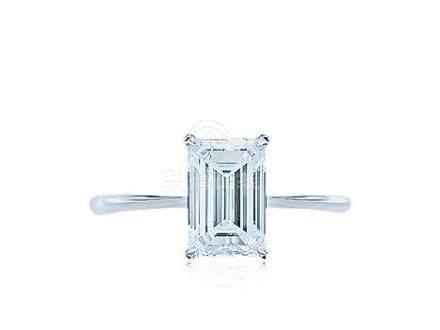 1.64克拉E色鑽石戒指,淨度內部無暇