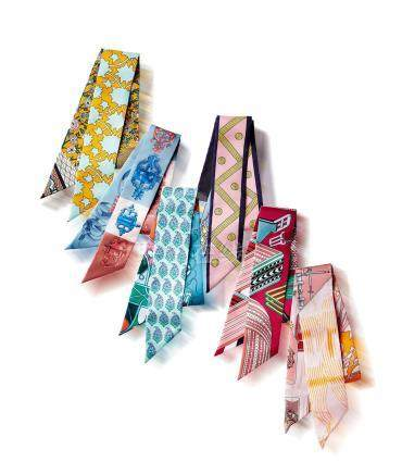 丝质TWILLY丝巾一组六条