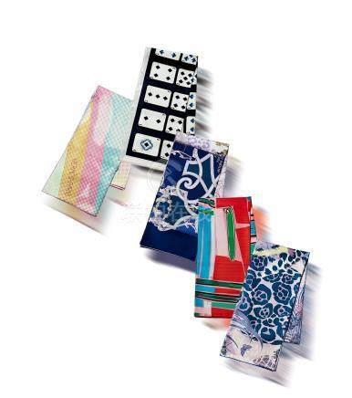 丝质丝巾一组五条