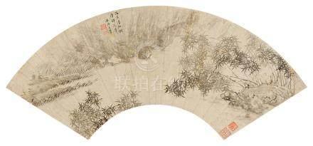 竹石圖(丙寅(1686年)作)