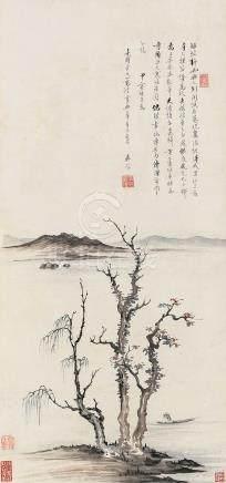 江岸新雨(甲寅(1914年)作)