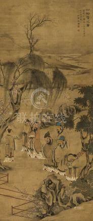 簪花圖(道光辛醜(1841年)作)