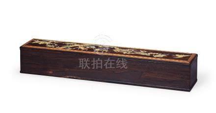 紫檀百寶嵌畫盒(清)