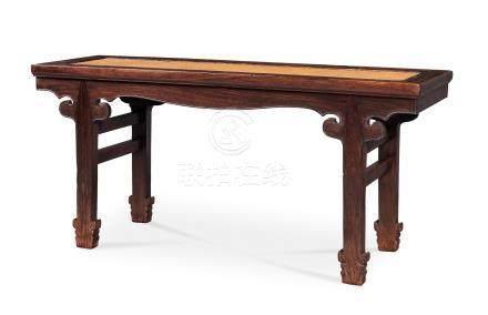 硬木二人凳(清早期)