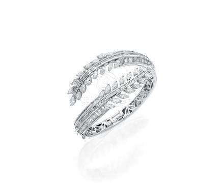 鑽石「葉子」手鐲