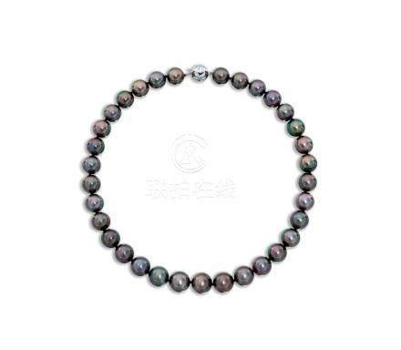 養殖珍珠配鑽石項鍊