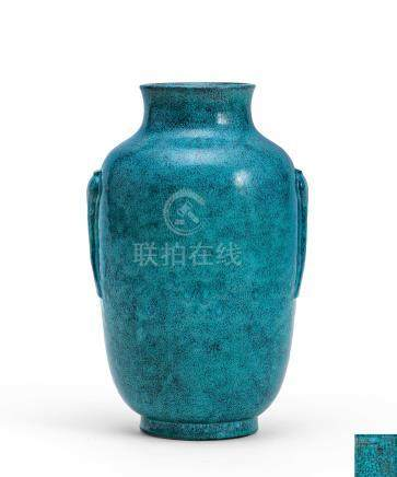 爐鈞釉燈籠瓶(清嘉慶)