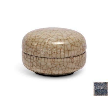 仿哥釉印泥盒(清乾隆)