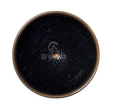 黑釉銀油滴盞(金)