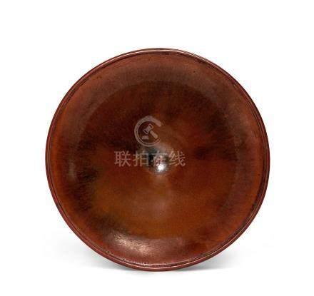 建窯醬釉撇口盞(宋)