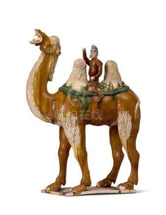 三彩胡人騎駱駝立像(唐)