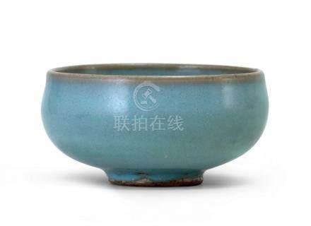 鈞窯天藍釉鉢式碗(北宋至金)