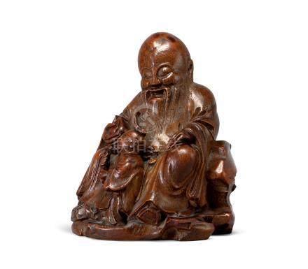 竹雕壽星童子(18世紀)
