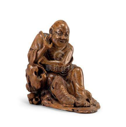 竹雕戲獅羅漢(18世紀)